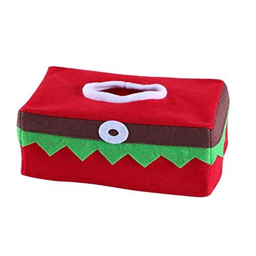 Stockings Gift Holders - Christmas Tissue Box Elves Innovative Restaurant Home Decoration Napkin Holder Decor - 83pcs 10504 Ladybug Witches 10548 Elves Christmas Paper Elf Holder