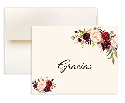 16 Vintage Flower Tarjetas De Agradecimiento