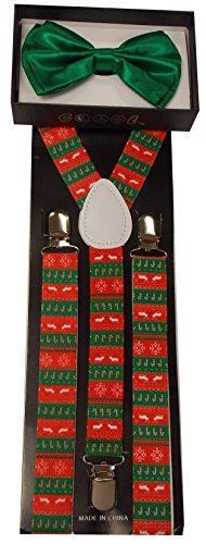 Christmas Themed Suspender and Bowtie Set ()