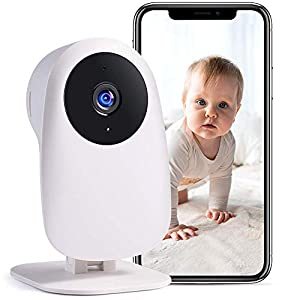Flashandfocus.com 41qqEQQ4%2BpL._SS300_ Nooie Baby Monitor with Camera and Audio 1080P Night Vision Motion andSoundDetection 2.4G WiFi Home Security Camera for Baby Nanny Elderly and Pet Monitoring,WorkswithAlexa