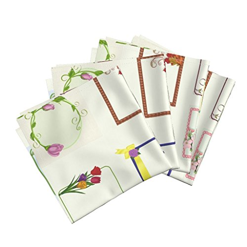 ic Sateen Dinner Napkins Cp Quilt Labels by Cindypie Set of 4 Cotton Dinner Napkins made by ()