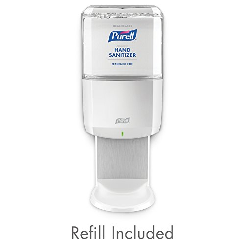 PURELL ES6 Healthcare Advanced Hand Sanitizer Gentle & Free Foam Starter Kit, 1 - 1200 mL Sanitizer Refill + 1 - PURELL ES6 White Touch-Free Dispenser - - Kit Dispenser Fragrance
