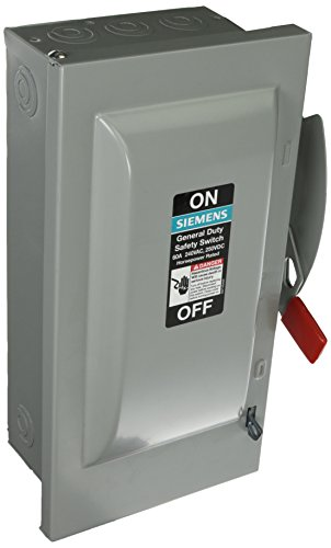 SIEMENS GF322N 60 Amp, 3 Pole, 240-Volt, 4 Wire, Fused, General Duty, Indoor Rated by Siemens