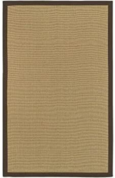 Woven Town Chocolate Sisal with Cotton Border Area Rug