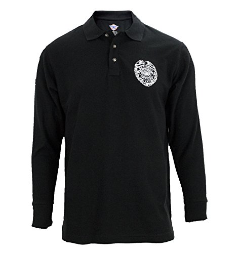 First Class Black Poly Cotton Security Polo Shirts
