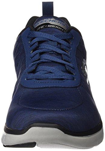 Skechers Flex Advantage 2.0, Zapatillas de Deporte Exterior para Hombre Azul (Nvy)