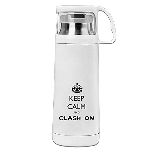 BakeOnion Keep Calm And Clash On Vacuum Cup Travel Mug With Handle Cup Water Bottle For Travel Sport Gym - Macy's Honolulu