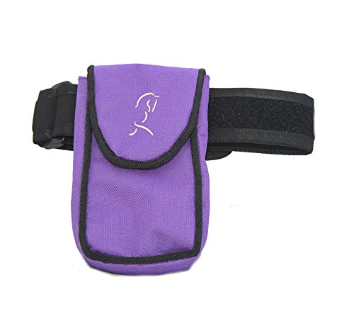 Medium/Large On the Leg Cell Phone/Smartphone Holder for the Leg/Calf - leg band for Equestrian, Jogger, Hiker or Motorcycle - (black) (Purple)