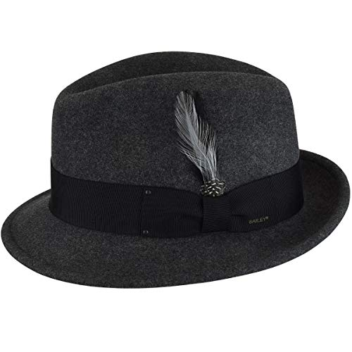 Hats Bailey Hat Wool - Bailey of Hollywood Men's Tino Black Mix Hat XL