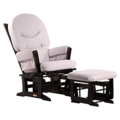 Ultramotion by Dutailier Modern Glider and Nursing Ottoman Combo with ''C'' Cushion