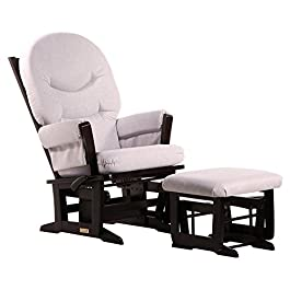 "Ultramotion by Dutailier Modern Glider and Nursing Ottoman Combo with ""C"" Cushion"