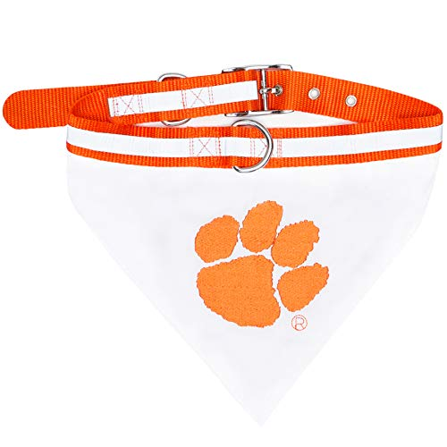 - Pets First Collegiate Pet Accessories, Collar Bandana, Clemson Tigers, Small