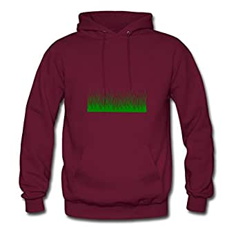 Women Green_weeds Hoodies -x-large Styling Image Burgundy