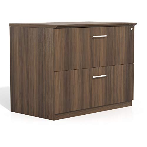 Safco Products MVLFTBS Medina Lateral File Cabinet, 2 Drawer, Textured Brown Sugar