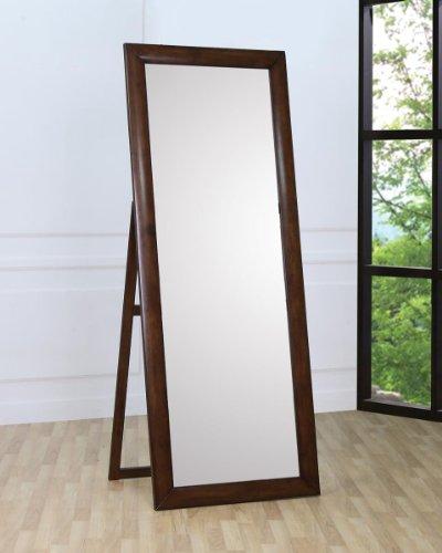 Hillary Standing Floor Mirror Warm Brown (Walnut Hillary)