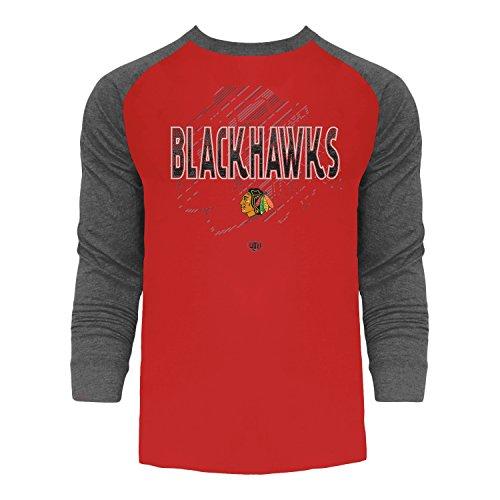 Chicago Blackhawks Long Sleeve Shirt - Chicago Blackhawks Harmell Raglan Long Sleeve T-shirt X-Large