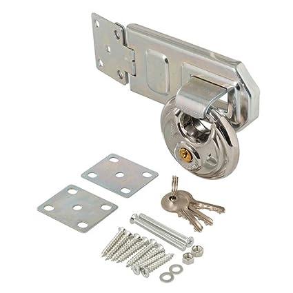 Cerradura de seguridad con candado para caseta de jardín Ref 492211