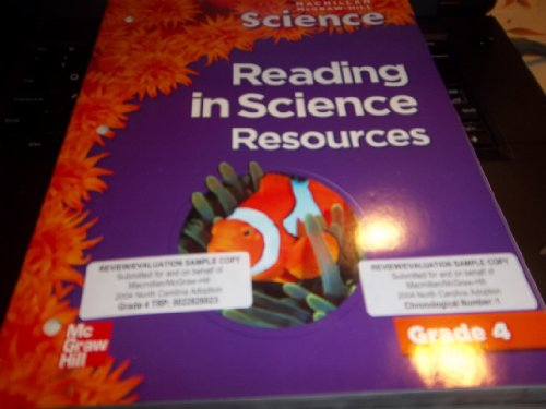 Reading in Science Resources (Science: Grade 4)
