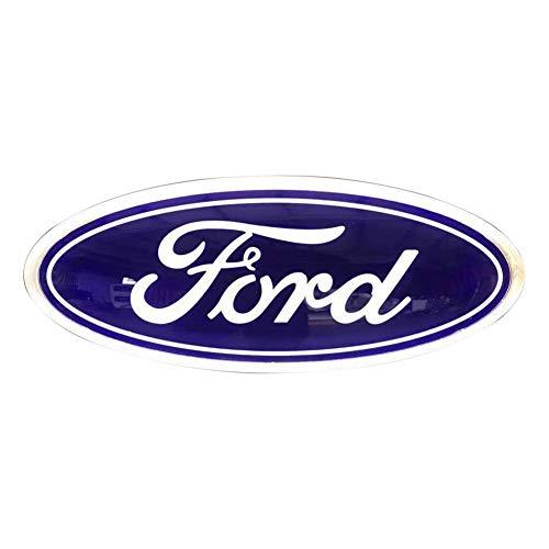 (Illuminated LED Light Car Front Grille Grill Emblem Light and Rear Tailgate Emblem Light Chrome Style For Ford Ranger 2006-2011)