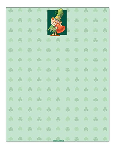 St. Patrick's Day Stationery - 8.5 x 11 - 60 St Patricks Day Letterhead Sheets - St Patty Day Letterhead
