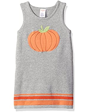 Baby Girls' Pumpkin Sweater Dress