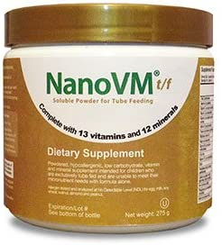 Solace Nutrition NanoVM t f 275g Flavorless Powdered Hypoallergenic, Carbohydrate Free Vitamin Mineral Supplement, Designed for Tube Feedings