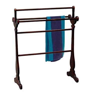 D-ART Carved Towel Rack (Blanket Rack) - in Mahogany Wood