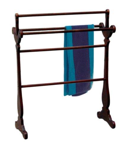 Magazine 12.5 Finish Rack - D-ART Carved Towel Rack (Blanket Rack) - in Mahogany Wood