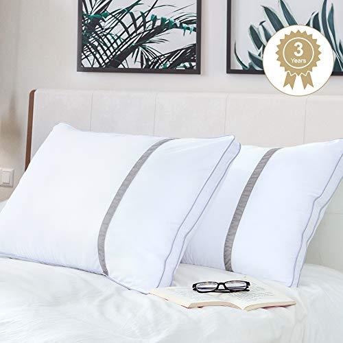 🥇 BedStory Almohada Antiácaros 42 x 70 cm Pack 2 Almohadas de Hotel Almohada con Relleno de Microfibra y Tejido Antialérgico para Dormir de Lado y Boca Arriba