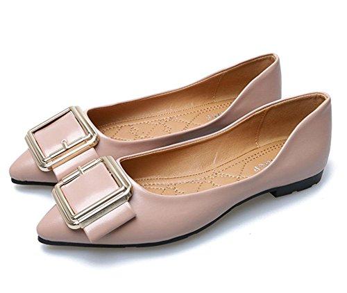 Al Los Antideslizantes Hebilla Zapatos De Apuntadas Salvajes Mujeres Asakuchi Las 2 Suaves Meili Final Zw5Sqn
