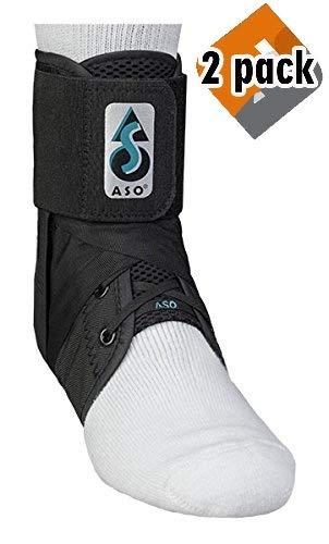 Med Spec 264014 ASO Ankle Stabilizer, Black, Medium (2 Pack) by Med Spec