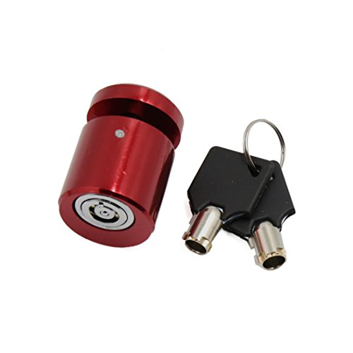 uxcell Red Motorcycle Scooter Brake Wheel Anti Thief Security Disk Lock w 2 Keys (2 Wheel Drive Motorcycle)