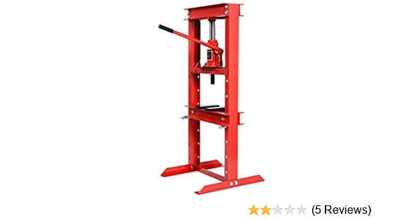 12 Ton Red 24,000 lb BIG RED T51201 Torin Steel H-Frame Hydraulic Garage//Shop Floor Press with Stamping Plates Capacity