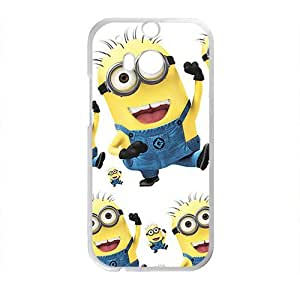 Cute naughty horarios de minions Cell Phone Case for HTC One M8