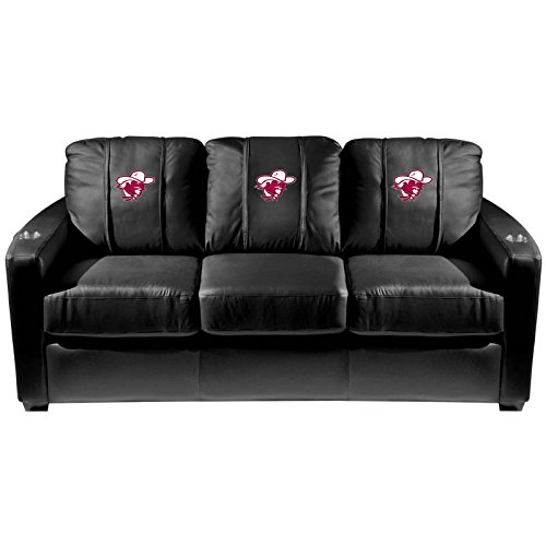 XZipit College Silver Sofa with Eastern Kentucky Colonels Logo Panel, Black