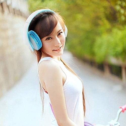 内蔵マイクヘッドセットノイズ低減ヘッドフォンは、イヤホン、ヘッドセット、調整可能な低音ヘッドフォンワイヤレスヘッドセット、Bluetoothヘッドセットを折り畳ま (Color : E)