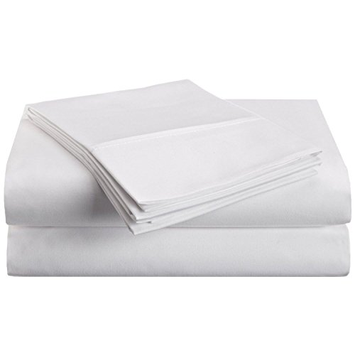 Hotel Brand 1000 Thread Count 6-Piece Extra Deep Pocket Super Soft Sheet Set Fit Upto 22 Inches Deep Pocket Queen Size White Solid, 100% Egyptian Cotton @ 'hotellinen' (Best Brands Of Bedsheets In India)