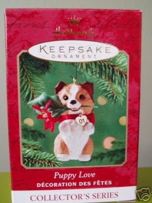 2001 PUPPY LOVE #11 Hallmark Keepsake Ornament