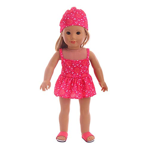 - Colourful Doll Clothes,Handmade Clothes Swimwear Swimsuit for 18 inch American Girl Doll Gifts (C)