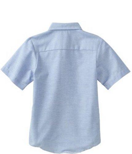 Dickies Big Boys' Short Sleeve Oxford Shirt, Light Blue, Medium (10/12)