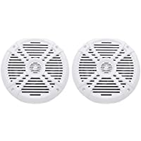 Pair Rockville RMSTS80W 8 1000w Waterproof Marine Boat Speakers 2-Way White