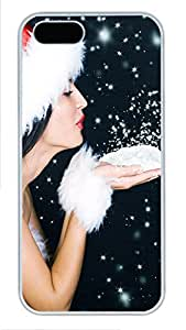 iPhone 5 5S Case Christmas Snow Powder135 PC Custom iPhone 5 5S Case Cover White