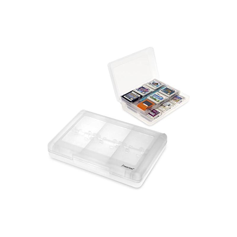 Insten 28-in-1 Game Holder Card Case for Nintendo NEW 3DS / NEW 3DS XL / NEW 3DS LL / 3DS / 3DS XL / 3DS LL / DSi / DSi XL / DSi LL / DS / DS Lite / NEW 2DS XL LL / 2DS Cartridge Storage Box, White
