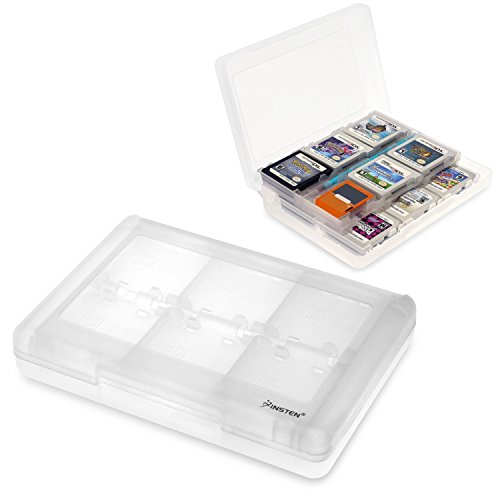 Insten 28-in-1 Game Card Case for Nintendo NEW 3DS / 3DS / DSi / DSi XL / DSi LL / DS / DS Lite / 3Ds Cartridge Storage Solution Box, White (Color Game Super Mario Boy)