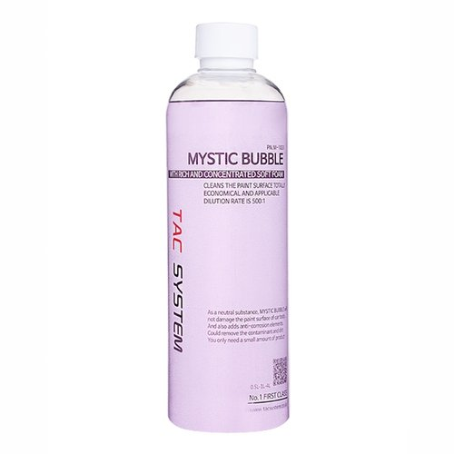 TAC Systems Mystic Bubble 500ml Car Auto Wash Shampoo - pH Neutral, Deep Cleaning Power, Coating Safe