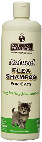 Natural Flea Shampoo for Cats & Kittens, 16.9oz(2 Pack) by Natural Chemistry