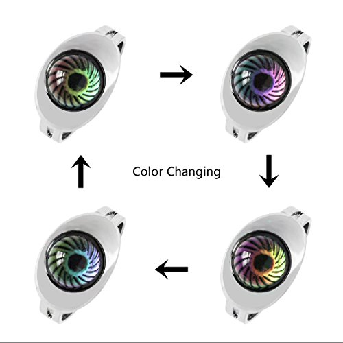 Acchen Mood Rings Two Eyes Change Color Emotion Feeling Finger Ring with  Gift Box 2pcs (Two Eyes)
