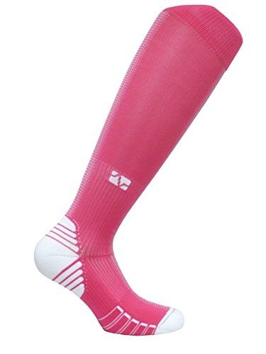 Vitalsox Matrix Training, Racing, Recovery Graduated Compression Elite Performance Socks with Bacteria Resistant Silver DryStat VT0216, Pink, Medium Matrix Racing