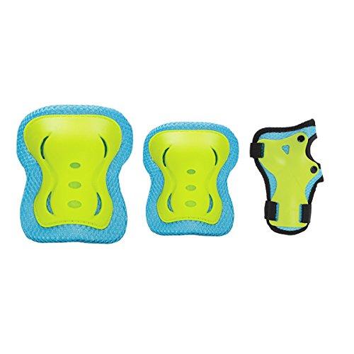 Équipement de protection genouillères de protections pour rollers Protège S à XL H320Bleu