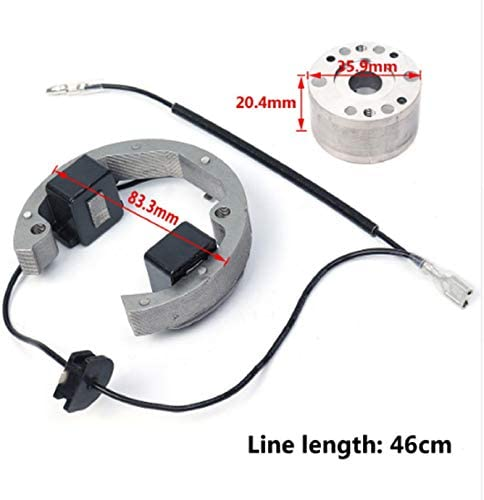 Egalbest Compatible with KTM 50 SX 50cc Pro Senior Junior SR JR KTM50 2001-2008 Ignition Coil Stator Rotor Kit